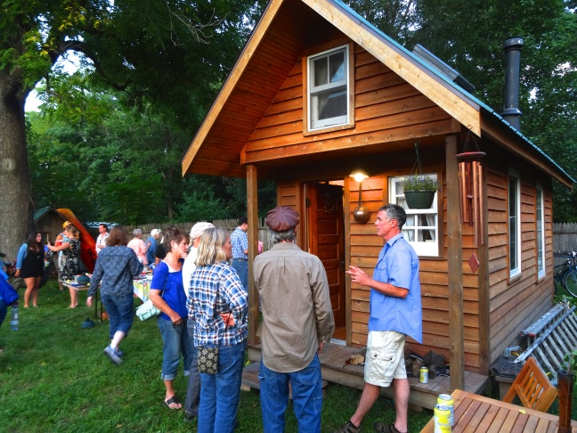 Tiny House Iowa City Gathering (Doug Williams on right).